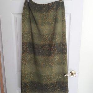Dresses & Skirts - Green Mandala Long Skirt